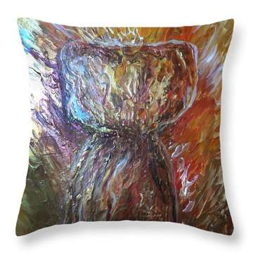 Fiery Earth Latte Stone Throw Pillow
