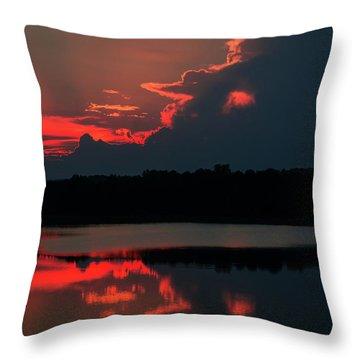 Fiery Evening Throw Pillow