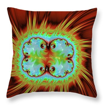 Fiery Glow Throw Pillow by Rajiv Chopra