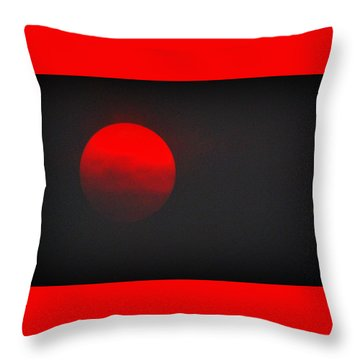 Throw Pillow featuring the photograph Fiery Sun by AJ Schibig