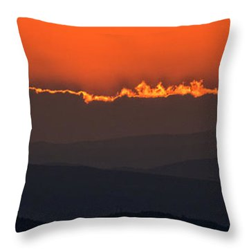 Fiery Sunset In The Luberon Throw Pillow