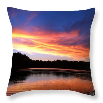 Fiery Sunset Throw Pillow by Jason Nicholas
