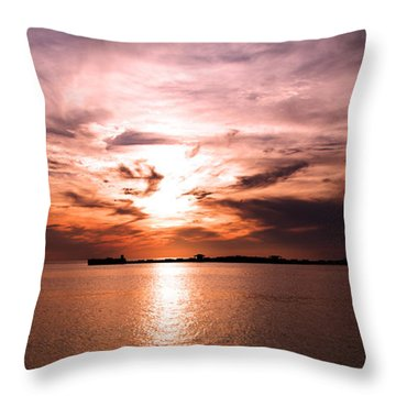 Fiery Tranquility  Throw Pillow by Rebecca Davis