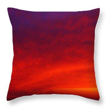 Fiery Vortex Throw Pillow