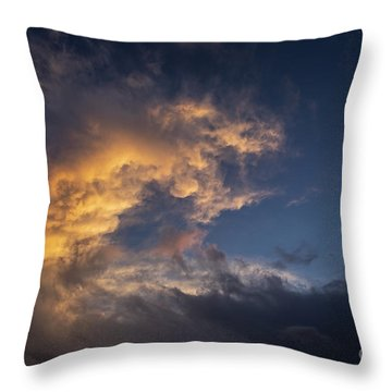 Fiery Wave Throw Pillow