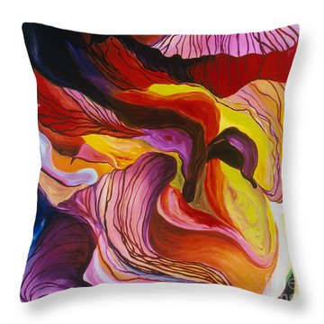 Fiesta De Les Flores Throw Pillow