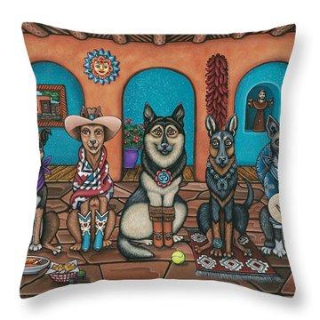 Fiesta Dogs Throw Pillow