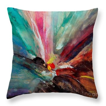 Throw Pillow featuring the painting Fiesta  by Dragica  Micki Fortuna