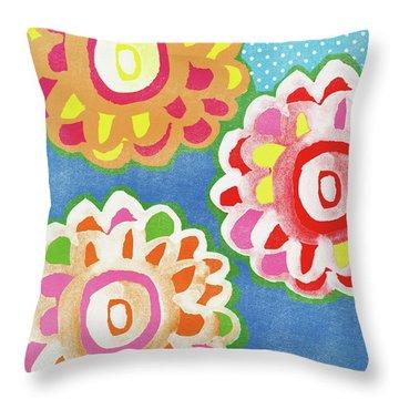 Fiesta Floral 3- Art By Linda Woods Throw Pillow