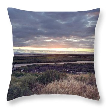 Fifteen Miles On The Erie Canal Throw Pillow