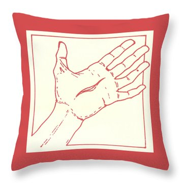 Throw Pillow featuring the drawing Fifteenth Station- Jesus Rises From The Dead by William Hart McNichols