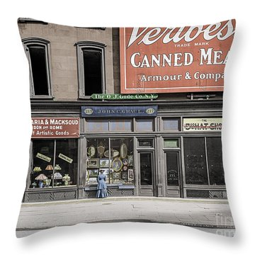 Fifth Avenue Colourised Throw Pillow