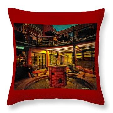 Fifth Street Public Market Throw Pillow