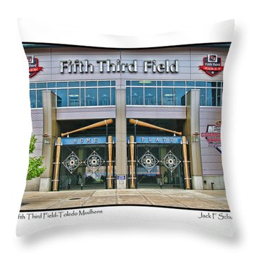 Fifth Third Field Toledo Mudhens Throw Pillow