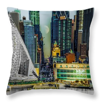 Throw Pillow featuring the photograph Fifty-seventh Street Fantasy by Chris Lord
