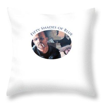 Throw Pillow featuring the painting Fifty Shades Of Blue by Tom Roderick