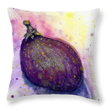 Throw Pillow featuring the painting Fig by Ashley Kujan