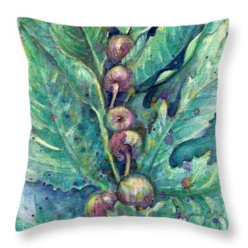Throw Pillow featuring the painting Figful Tree by Ashley Kujan
