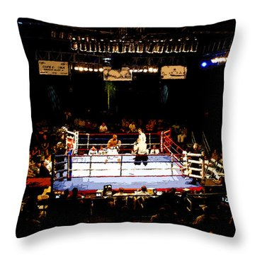 Fight Night Throw Pillow by David Lee Thompson