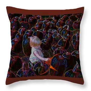 Fight The Darkness Throw Pillow