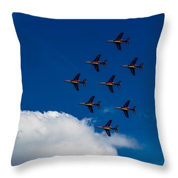Fighter Jet Throw Pillow by Martin Newman