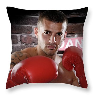 Fighter Throw Pillow by Oleksiy Maksymenko