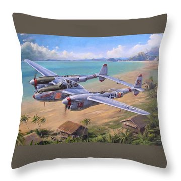 Fightin' Red Devils Throw Pillow