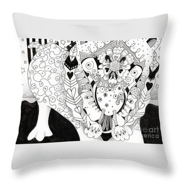 Figments Of Imagination - The Beast Throw Pillow