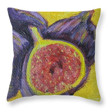 Figs  Throw Pillow by Laurie Morgan