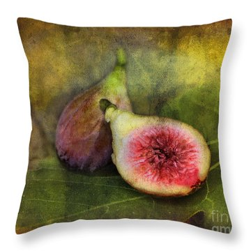Figs Throw Pillow by Sari Sauls