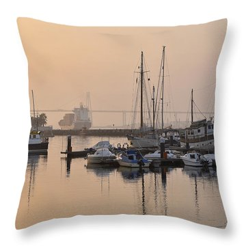 Figueira Da Foz Marina Throw Pillow by Marek Stepan