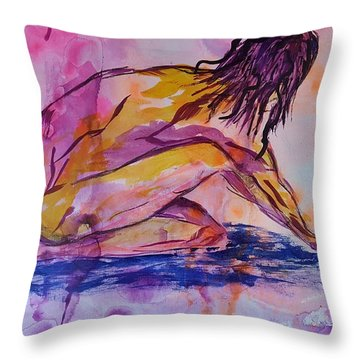 Figurative Abstract Nude 7 Throw Pillow
