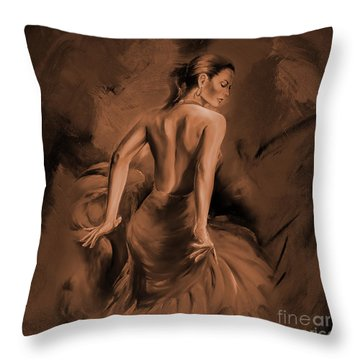 Throw Pillow featuring the painting Figurative Art 007dc by Gull G