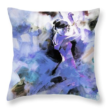 Throw Pillow featuring the painting Figurative Dance Art 509w by Gull G