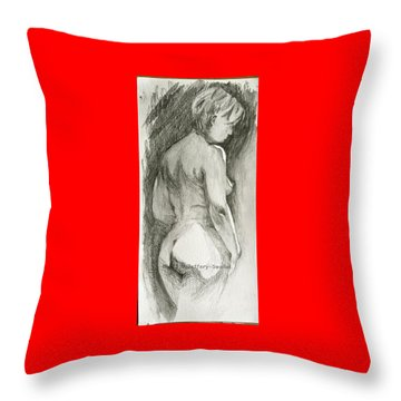 Figure Drawing.2. Throw Pillow by SJV Jeffery-Swailes