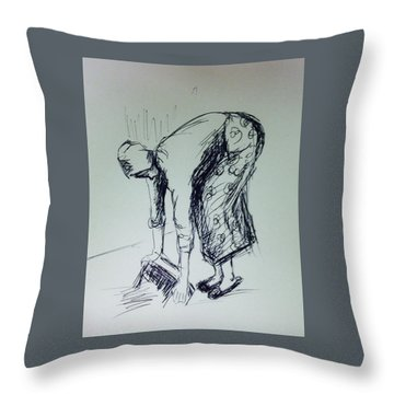 Figure Study 2 Throw Pillow by Hae Kim