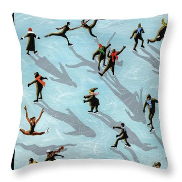 Figured Skaters Throw Pillow
