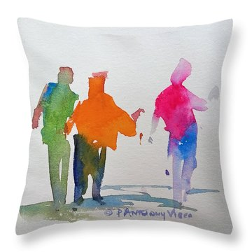 Figures In Motion  Throw Pillow