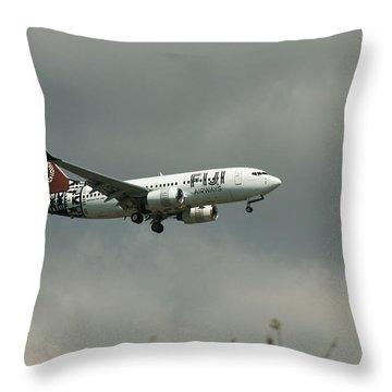 Fiji Airways Inbound Throw Pillow