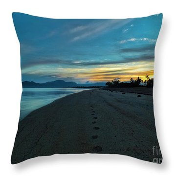 Fiji Dawn Throw Pillow by Karen Lewis