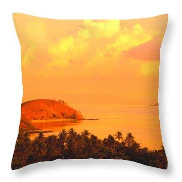 Fiji Mana Island Throw Pillow by Dave Fleetham - Printscapes