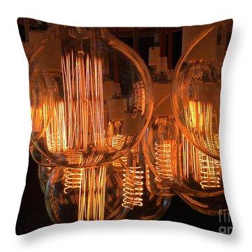 Filaments Throw Pillow