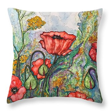 Filed Of Flowers #1 Throw Pillow