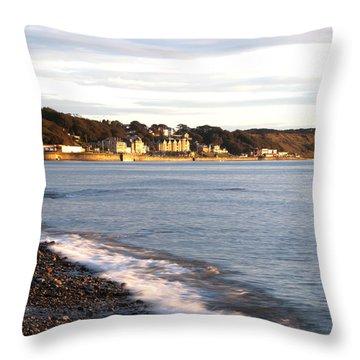 Filey Shore Throw Pillow by Svetlana Sewell
