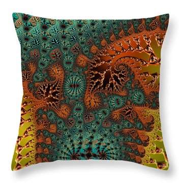 Filigree And Lace Throw Pillow