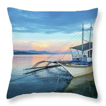 Filipino Sunset Throw Pillow