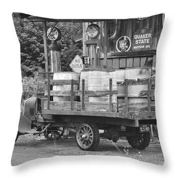 Fill Er Up          B And W Throw Pillow