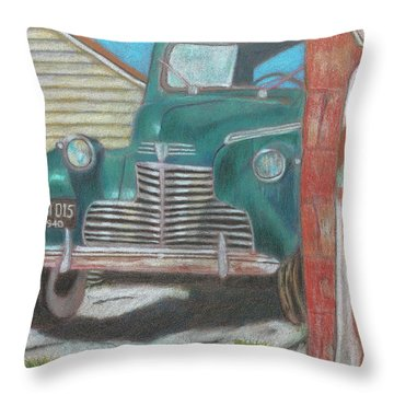 Fill 'er Up Throw Pillow by Arlene Crafton