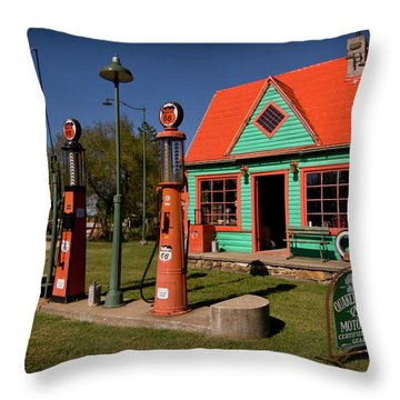 Fill 'er Up Throw Pillow