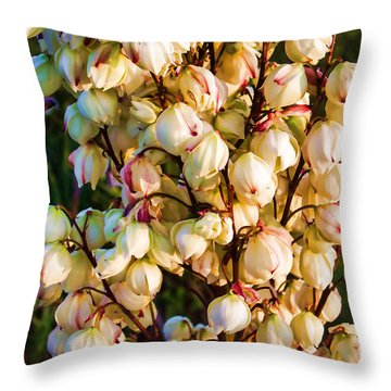 Filled With Joy Floral Bunch Throw Pillow